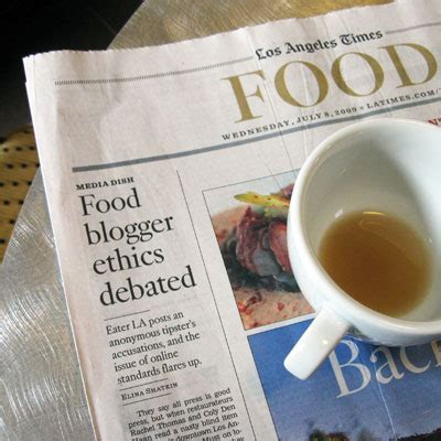 la times food section sippitysup food for thought blogger ethics sippitysup