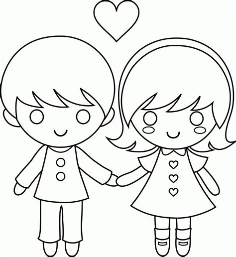 coloring page of boy and girl coloring page boy and girl coloring home