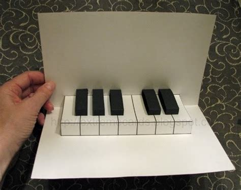piano template card cards and papercrafting easy piano pop up card