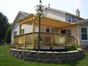 Photos Of Pergolas On Decks by Pergola Amp Deck In Plainfield Il Pergolas Amp Trellises