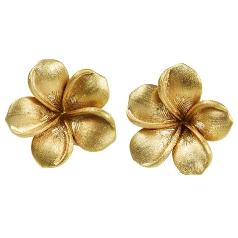 Flower Studs flower gold earrings flower inspiration