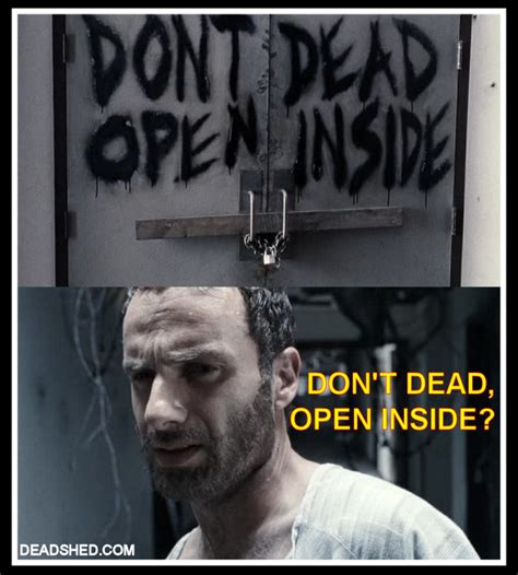 Memes The Walking Dead - deadshed productions rick grimes sheriff of the english