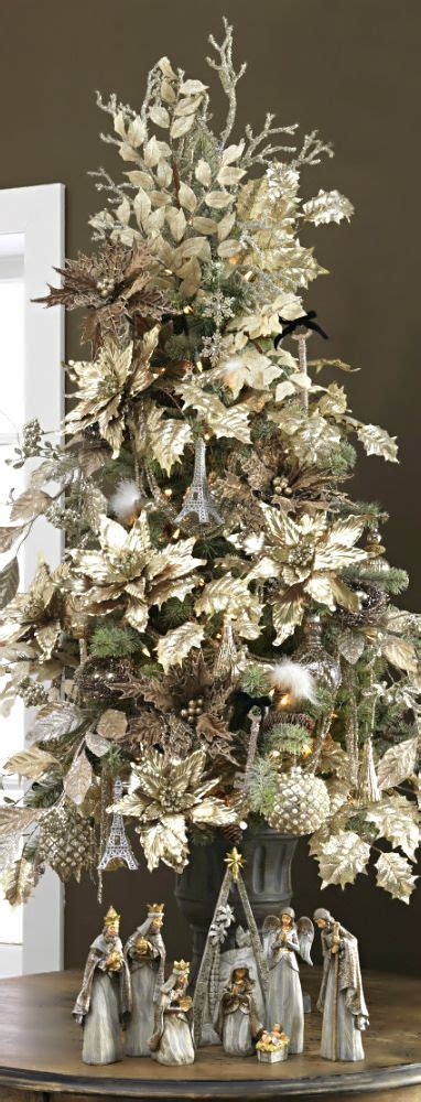 christmas tree gold tabletop xmas table top trees