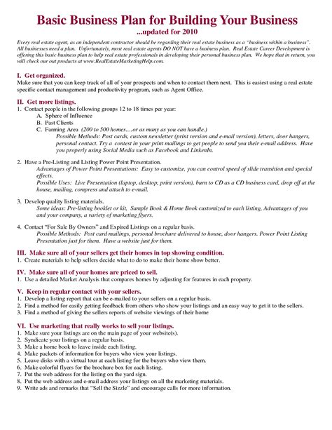 sle real estate business plan flipping college