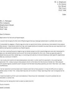 School Psychologist Cover Letter by Exle Covering Letter Psychologist Covering Letter Exle