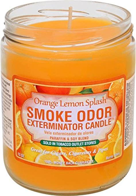 smoke odor exterminator candle orange lemon splash  oz