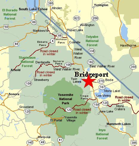 bridgeport map bridgeport california fly fishing planettrout