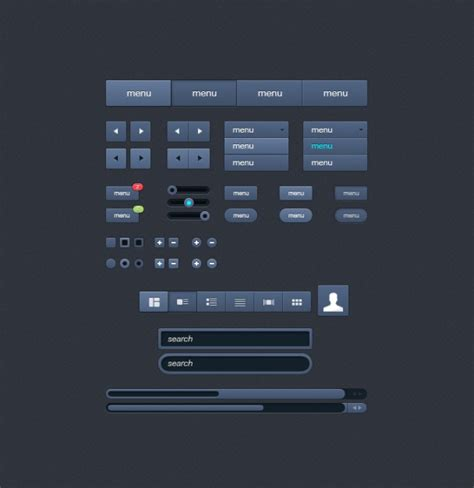 ui pattern buttons button text field toggle ui user interface psd file free