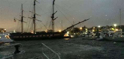 x13 drift boat rhode island tall ship loses power hits boats in newport