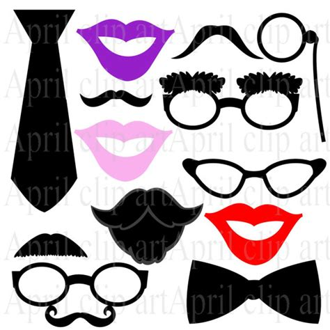 26 printable photo booth props moustache items similar to photo booth prop clipart printable