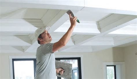 a new approach to coffered ceilings homebuilding