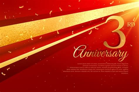 3rd anniversary card template 3rd anniversary celebration card template free