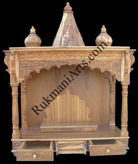 code 38 wooden carved teakwood temple mandir wooden