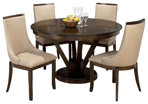 dining room sets round jofran webber walnut 5 piece 53 inch round dining room set