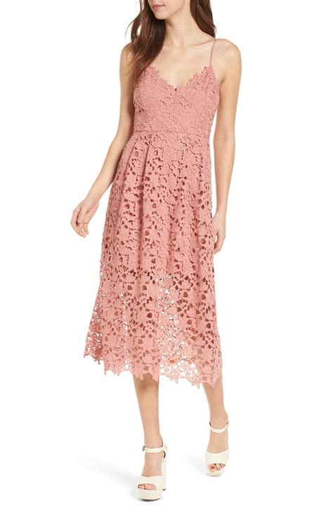Id Pink Lace Dress astr the label lace midi dress nordstrom
