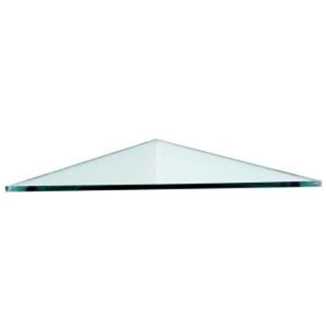 floating glass shelves 12 in x 12 in x 3 8 in triangle