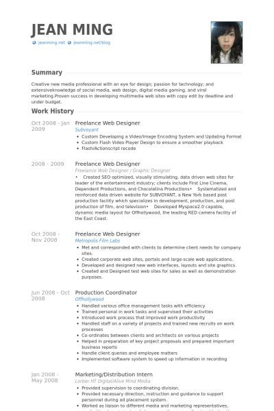 curriculum vitae sles for web designer freelance web designer resume sles visualcv resume