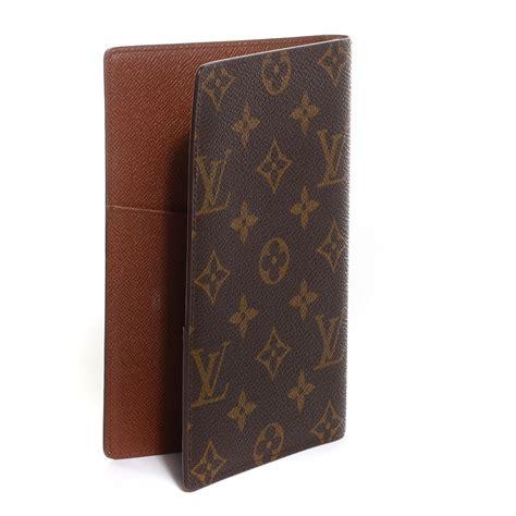 Louis Vuitton Lv Monogram Coklat Tempat Card Holder Pocket Chocolate louis vuitton vintage monogram passport credit card holder