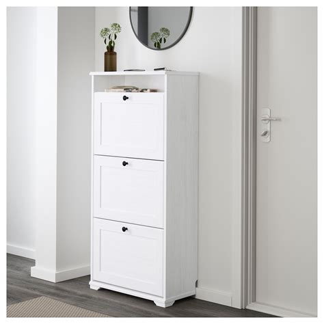 Schubladenschrank 30 Cm Tief by Brusali Shoe Cabinet With 3 Compartments White 61x130 Cm