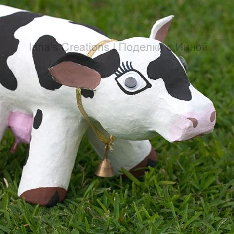 How To Make A Paper Mache Cow - make a papier mache cow using an empty water bottle and