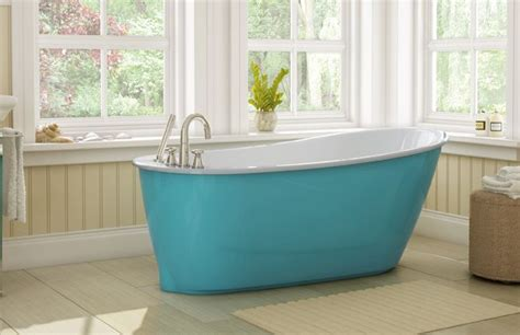 colored bathtubs beautiful contemporay tub with aqua colored bathtub skirt what a great way to add