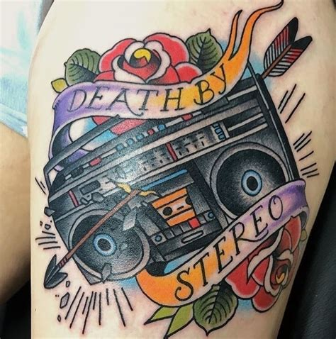 new school boombox tattoo ello tattoo artists ellotattoos ello