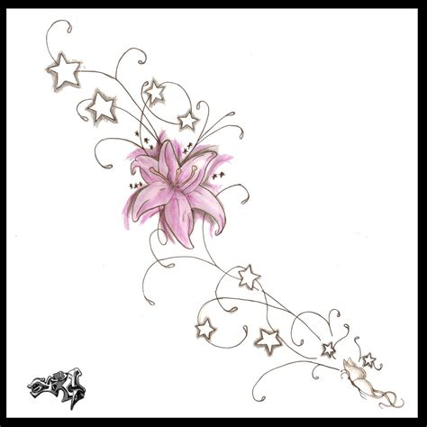Side Designs | flower vine tattoo design for women tattoo
