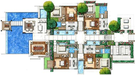 Resort House Plans by Villas Floor Plans Floor Plans Villas Resorts