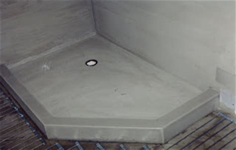 Concrete Shower Base by Anjos Construction Specialized In Custom Homes Concrete