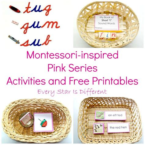 printable montessori pink series montessori inspired pink series activities and free