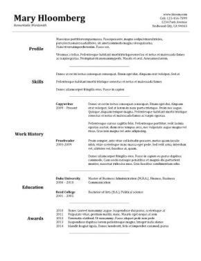 Best Resume Format Ever by Top 10 Best Resume Templates Ever Free For Microsoft Word