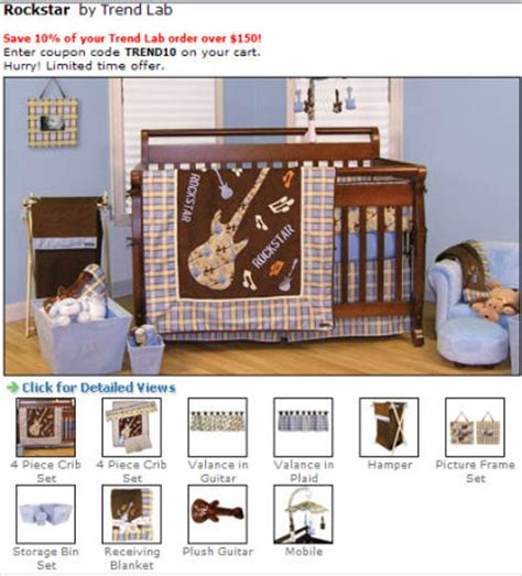 Rock And Roll Crib Bedding Guitar Baby Bedding