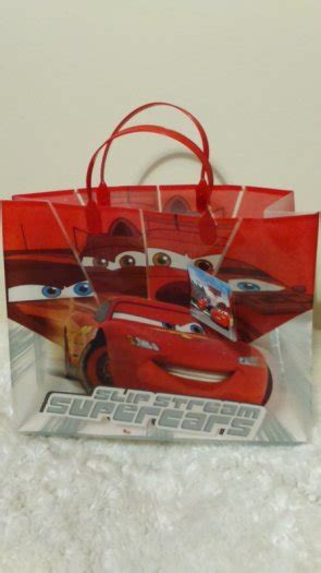 Goodie Bag Busur Kombinasi Cars 1 bargain gift ideas here lovely disney cars lightning mcqueen stickers and gift bag for sale in