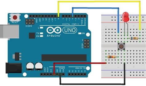 external pull resistor arduino using push button switch with arduino uno
