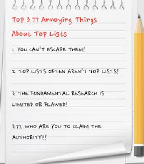 Magazines 2006 Most Annoying List by Hrmarketer The Top 3 77 Annoying Things About