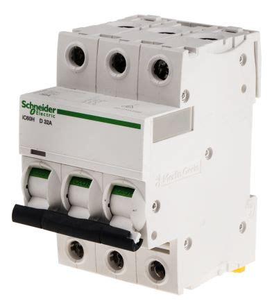 Mcb Schneider 3p 63a a9f55332 acti 9 ic60h mcb mini circuit breaker 3p 32 a
