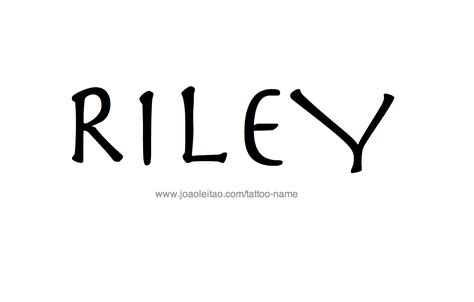 riley tattoo design name designs