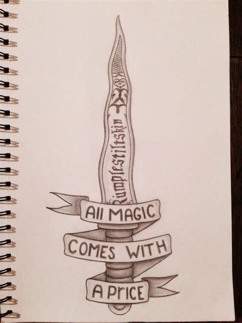 once upon a time tattoo rumpelstiltskin all magic comes with a price once upon a