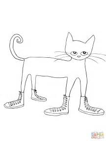 pete the cat coloring page pete the cat i my white shoes coloring page free