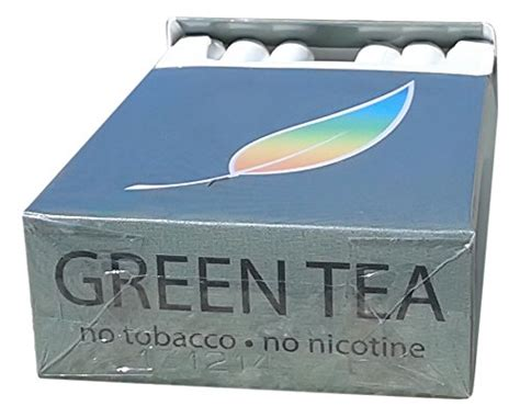 Greens Are To Detox Of Cigarettes by American Billy Green Tea Herbal Cigarettes 4 Pack