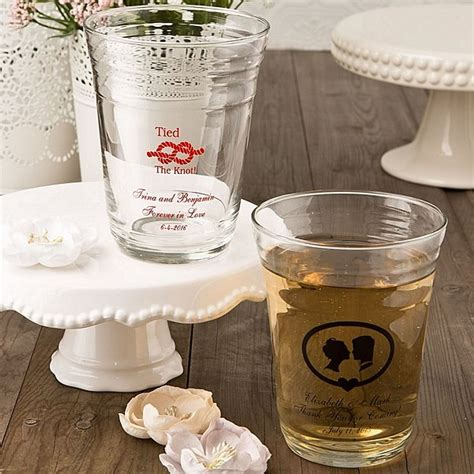 personalized glassware favors