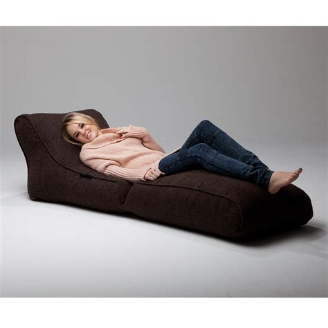 ambient lounge bean bag indoor bean bags conversion lounger chocolate