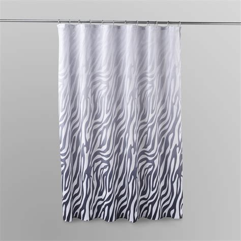 zebra shower curtain essential home shower curtain ombre zebra