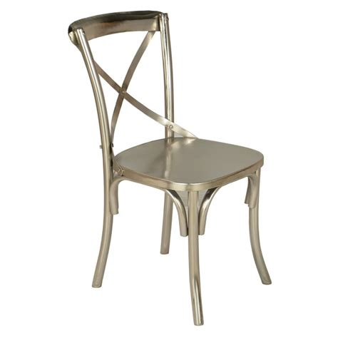 Modern Industrial Dining Chairs Modern Industrial X Back Armless Chair Set Of 2 Dining Chairs At Hayneedle