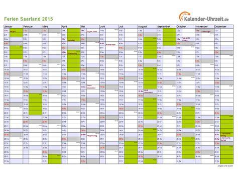 Kalender 2015 Din A4 Ferien Saarland 2015 Ferienkalender Zum Ausdrucken
