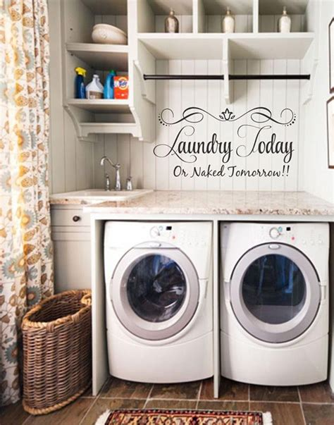 Decorating Laundry Room Walls by 1000 Ideas About Laundry Room Decorations On