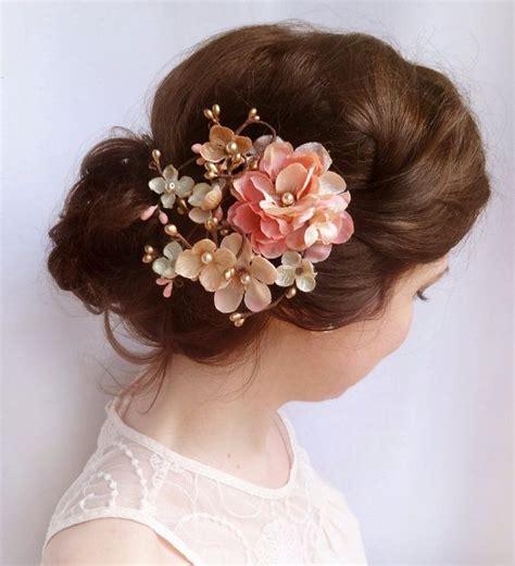 Wedding Clip In Hairpieces by Adorable Floral Hair Pieces For Brides Sortashion