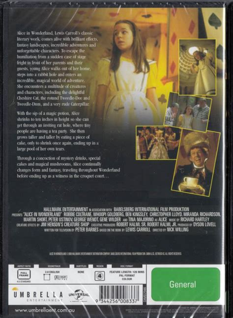 gene wilder alice in wonderland alice in wonderland dvd 1999 new sealed region 4 whoopi