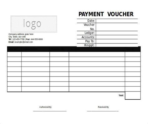 accounts payable voucher template 5 microsoft word format voucher templates free