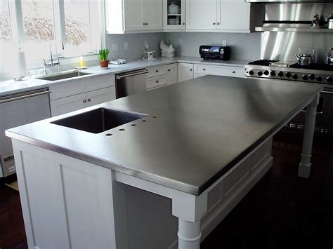 kitchen island steel top advice on stainless steel kitchen island work table allin the details